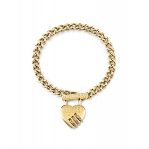 Bracelet Guess UBB20057-S cadenas coeur doré
