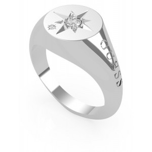 Bague Guess UBR20010 taille 56 étoile strass