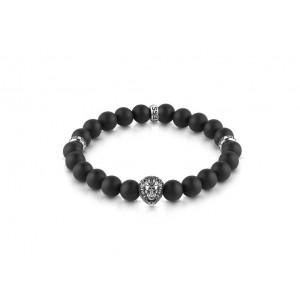 Bracelet Guess UMB78000 perles noires homme