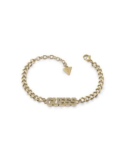 Bracelet Guess UBB20036-S logo strass doré