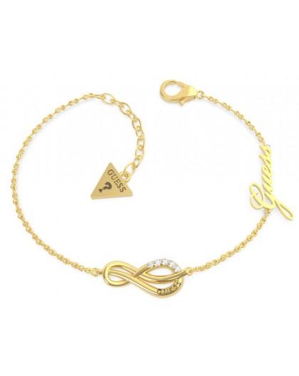 Bracelet Guess UBB20092-S infini strass doré