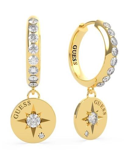 Boucles oreilles Guess UBE20021 etoiles dorées