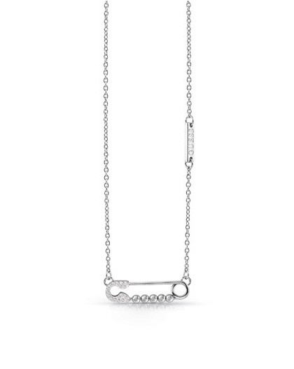 Collier Guess UBN20099 épingle à nourrice argenté