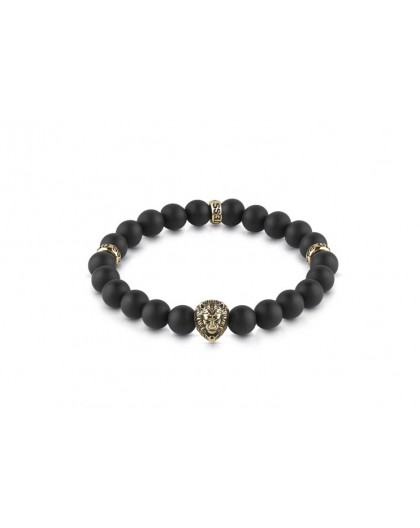 Bracelet Guess UMB78001 perles noires homme