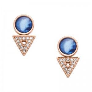 Boucles d'oreilles Fossil femme JF03009791 bleuté