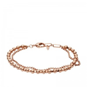 Bracelet Fossil femme JA6776791 multi liens rosé