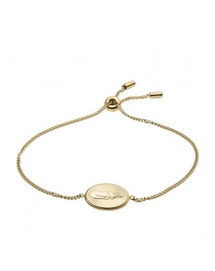 Bracelet Fossil femme JF03237710 plume doré