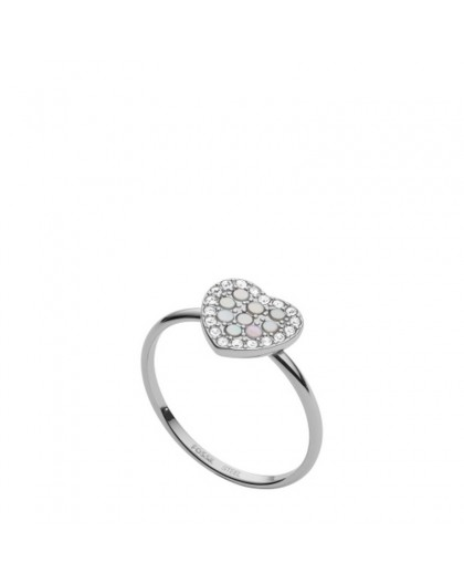 Bague Fossil femme JF03412040 coeur taille 53