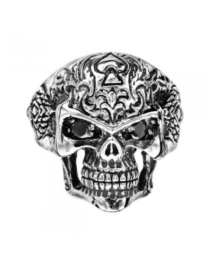 Bague chevalière argent Tête de mort Skull