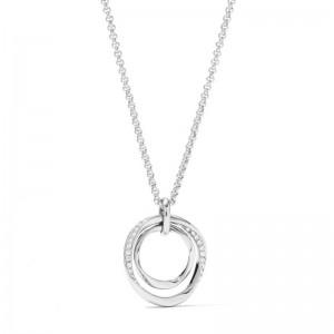 Collier Fossil femme JF01218040 cercle acier