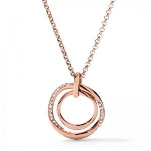 Collier Fossil femme JF01301791 cercle rosé