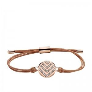 Bracelet Fossil femme JF02746791 cuir marron