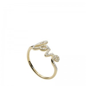 Bague Fossil femme JF03345710 love doré taille 53
