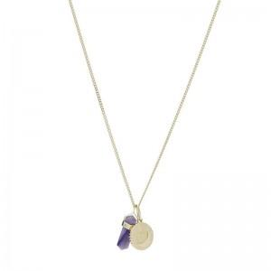 Collier Fossil JF03470710 femme cristaux violets
