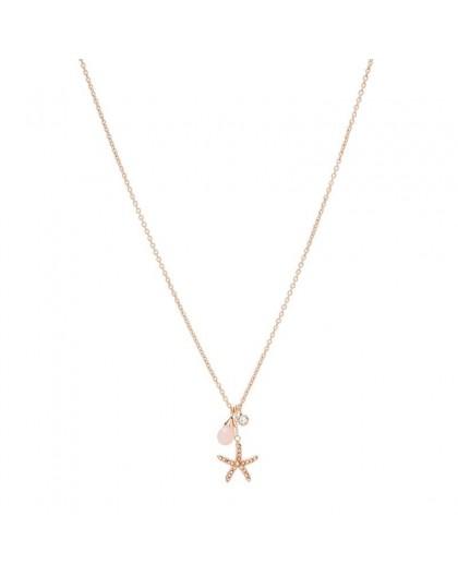 Collier Fossil JF03519791 femme étoile rosé