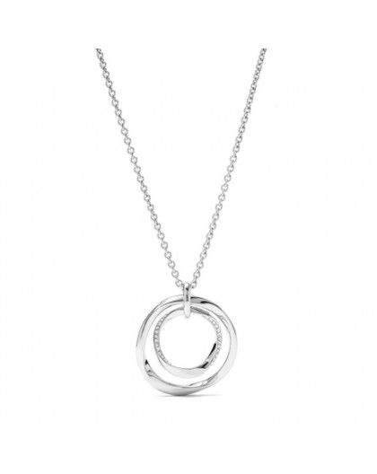 Collier Fossil JF01146040 femme cercles doubles