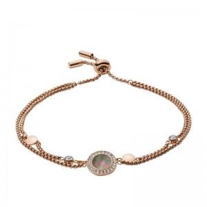 Bracelet Fossil JF02951791 femme nacre rosé
