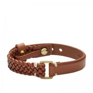 Bracelet Fossil Homme JA6912715 cuir marron
