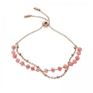 Bracelet Fossil JF03534791 femme quartz rose