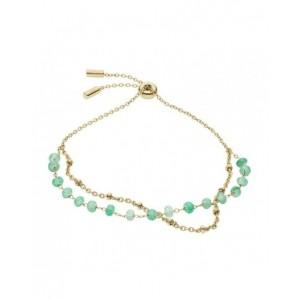Bracelet Fossil JF03432710 femme perles de jade