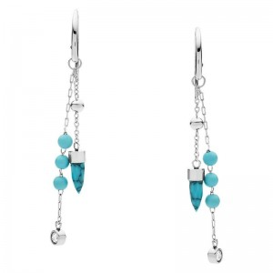 Boucles oreilles Fossil JF03520040 turquoise