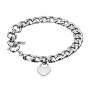 Bracelet Fossil JF03279040 acier coeur gravable