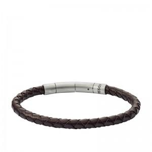 Bracelet Fossil JF03316040 homme cuir tressé