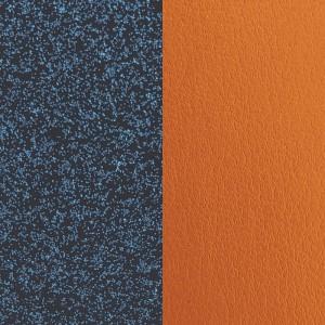 Cuir Les Georgettes 8mm Glit blau/Abricot