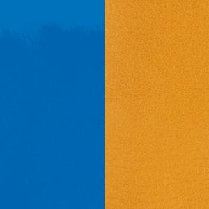 Cuir Les Georgettes 8mm Bleu vif vernis/Moutarde