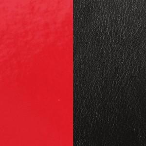 Cuir Les Georgettes 8mm Rouge venris/Noir