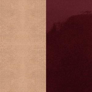 Cuir Georgettes 8mm Moiré Saumon/Bordeaux vernis