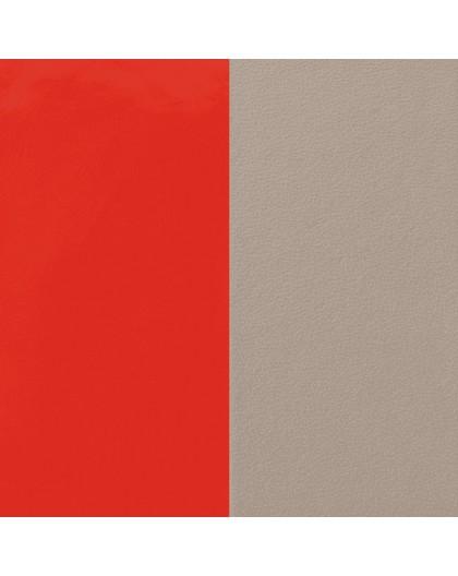 Cuir Georgettes 25mm Medium Corail vernis/Taupe