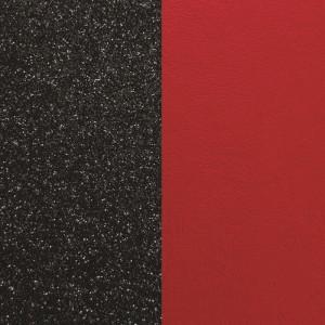 Cuir Les Georgettes 14mm Noir paillettes/rouge