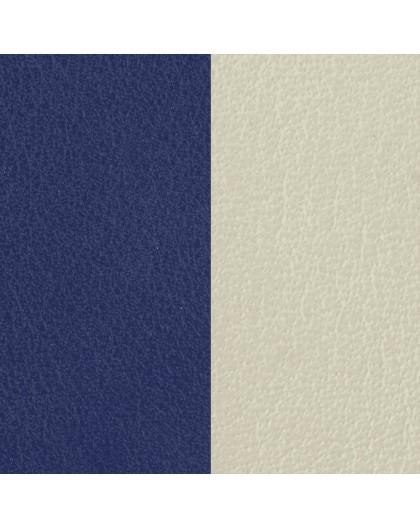Cuir Les Georgettes 14mm Indigo/Blanc cassé