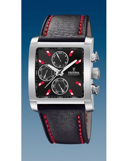 Montre Festina F20424/8 chrono rectangulaire