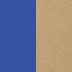Cuir Les Georgettes 14mm Bleu éléctrique/Taupe