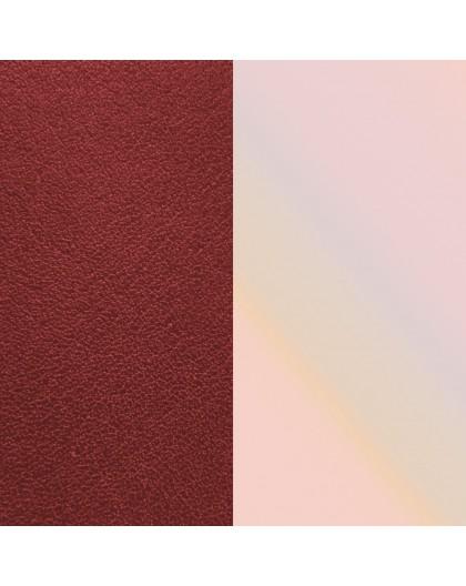 Cuir Les Georgettes 25mm Carmin/Coquillage
