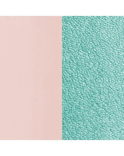 Cuir Bracelet Georgettes 25mm Nude /Turquoise