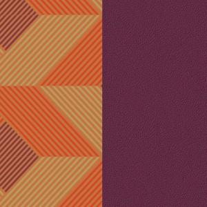 Cuir Georgettes 40mm Large Rythme/Violet