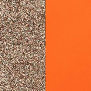 Cuir Les Georgettes 25mm Pailleté/Tangerine