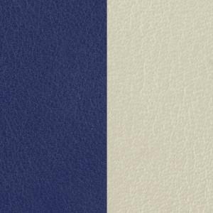 Cuir Les Georgettes 25mm Indigo/Blanc cassé