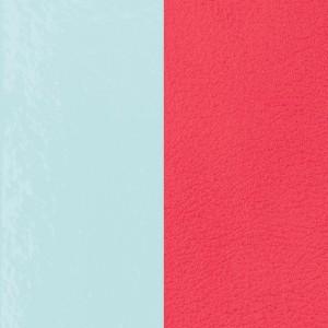 Cuir Les Georgettes 25mm Bleu ciel verni/Grenadine